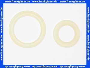 Alternative Glockendichtung zu Grohe DAL Dichtung 43808 für Ablaufkolben gruen mit rotem Schraubring passend zu 43544 43544000