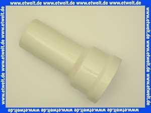750701 Abu WC - Anschlussstutzen gerade DN 90 in Weiss Länge 250 mm