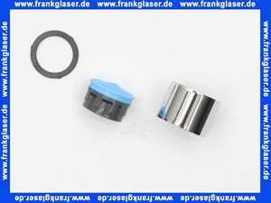 60640100001 Arwa Perlator M22x1 zu Twin 1+2 chrom
