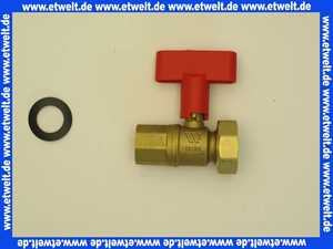 5354942 Buderus Kugelhahn m Rückschlagvent 1 Zoll FL G1 1/2