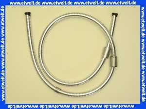Concept 100 Brauseschlauch 125cm beidseitig konische Mutter Chromoptik