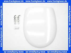 Concept 200 WC Sitz mit Deckel in der Farbe weiß und mit Edelstahlscharnieren