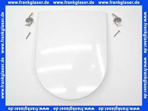 WC-Sitz mit Deckel CosimaCLASSIC weiß mit Steckscharnieren chrom