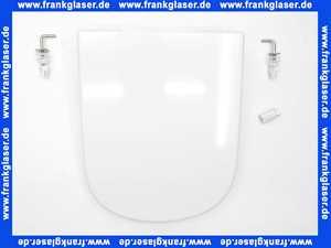 526472 Derby Wc-Sitz Derby Style mit Deckel Scharniere Edelstahl weiß