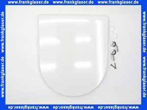 0063810000 Duravit WC-Sitz Starck 3 ohne SoftClose Scharniere edelstahl, weiß