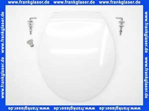 WC-Sitz Pagette Exklusiv mit Deckel weiß und Edelstahlscharnieren