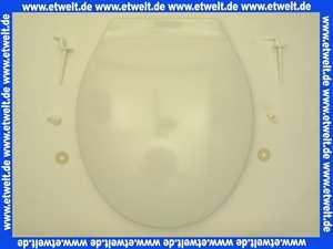 WC-Sitz Pagette Exklusiv mit Deckel weiß und Kunststoffscharnieren