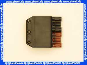 Kupplung  6-polig schwarz/braun, 250/400V, 16A System Wieland
