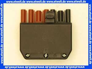 Stecker  7-polig schwarz/braun, 250/400V, 16A System Wieland