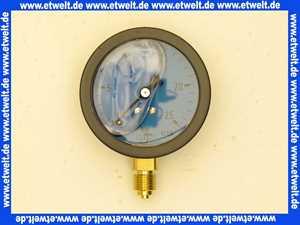 Öldruckmanometer mit Glyzerin- dämpfung 0-25 bar  63 mm 1/4 unten