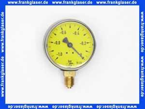 Vakuummeter ohne Glyzerindämpfung -1 - 0 bar  63 mm 1/4 unten