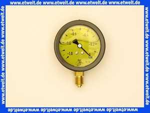 Vakuummeter mit Glyzerindämpfung -1 - 0 bar  63mm 1/4 unten                   *