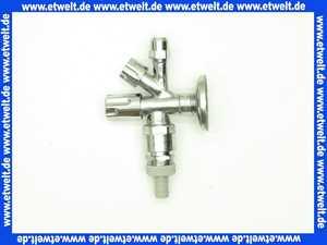 Kombi-Eckventil mit Rohrbelüfter chrom-poliert,selbstdichtend,. 1/22x10mm