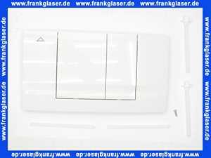 330701 Friatec WC Betätigungsplatte FRIABLOC Modell F 102 2-Menge, Betätigung von vorne, weiß-alpin, Glanzf.