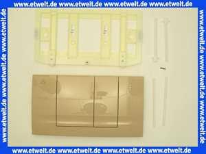 Friatec WC Betätigungsplatte bahamabeige FRIABLOC Modell F 102 2-Menge, Betätigung von vorne 330703