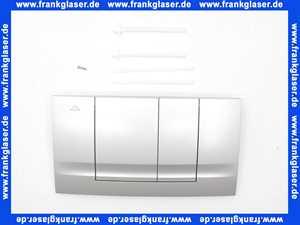 330721 Friatec WC Betätigungsplatte FRIABLOC Modell F 102 2-Menge, Betätigung von vorne, seidenglanz, verchromt