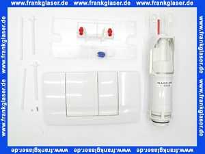 Friatec Umbausatz von WC Betätigungsplatte 331001 FRIABLOC Modell F 100 2-Menge auf Modell F 102 in weiß