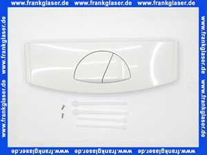 332001 Friatec WC Betätigungsplatte FRIABLOC Modell F 200 2-Menge,Betätigung von oben,weiß-alpin,Glanzf.