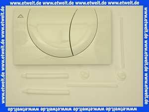 332601 Friatec WC Betätigungsplatte FRIAFIX Modell F 302 2-Menge,Betätigung von vorne,weiß-alpin,Glanzf.
