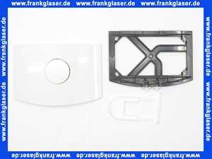 336101 Friatec Urinal-Serviceplatte Drückerplatte Betätigungsplatte Handauslösung, weiß-alpin glänzend für Urinal Druckspüler