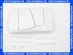 332401 Friatec WC Betätigungsplatte Drückerplatte FRIAFIX Modell F300 2-Menge Betätigung von vorne weiß-alpin Glanzfarbe