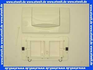 115222111 Abdeckplatte Drückerplatte Geberit 200F weiss für UP-Spülkasten