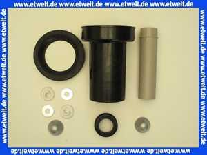 152426461 Geberit Anschlussset für Wand-WC PE d90/45 L:18,5 cm mit Deckkappen
