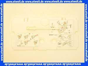 24051200 Schutzplatte Geberit komplett f.Spuelgarnitur Impuls