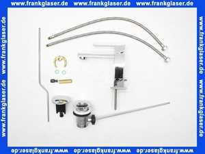 20001031 Gessi Einhand-waschtischbatterie Rettangolo Bagno mit Ablaufgarnitur verchromt