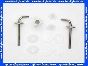 400023 Hamberger Fast-Fix Edelstahlscharniere f.WC-Sitze