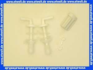 400024 Hamberger Kunststoffscharniere weiss für WC-Sitz
