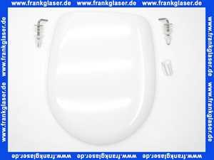 511565 Hamberger  WC-Sitz Samoa mit Deckel mit Edelstahl Scharnieren und Puffern weiss