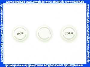 97987000 Hans Grohe Porzellankappen Axor Montreux hot/cold/Ringe