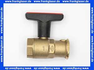 0630-04000 Heimeier Pumpenkugelhahn 1 mit Schwerkraftbremse Globo