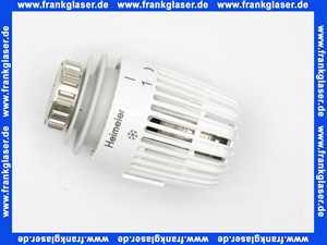 600000500 Heimeier Thermostatkopf mit Festfühler K weiss für Heizkörperventile mit Gewinde M 30 x 1,5