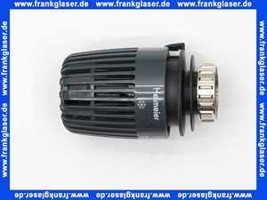 600000503 Heimeier Thermostatkopf mit Festfühler K anthrazitgrau RAL 7016