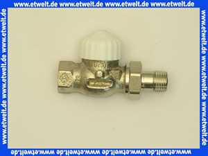 Heimeier Thermostatventil Ventilunterteil Heizkörperventil 1/2  Durchgang Rotguß vernickelt DN 15