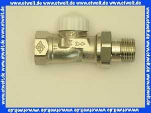 Heimeier Thermostatventil Ventilunterteil Heizkörperventil 3/4  Durchgang Rotguß vernickelt DN 20