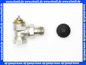 Heimeier Thermostatventil Ventilunterteil Heizkörperventil 1/2  Eck Rotguß vernickelt DN 15