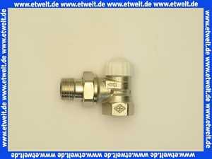 Heimeier Thermostatventil Ventilunterteil Heizkörperventil 3/4  Eck Rotguß vernickelt DN 20