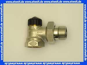 Heimeier Thermostatventil Ventilunterteil Heizkörperventil 1  Eck Rotguß vernickelt DN 25