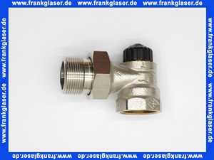 Heimeier Thermostatventil Ventilunterteil Heizkörperventil 1 1/4  Eck Rotguß vernickelt DN 32