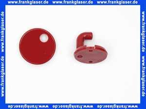 8019001033 Handtuchhaken Hewi 30mm rubinrot