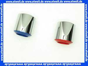 A960255AA Ideal Standard SE-GRIFF Set mit Index blau/rot verchromt
