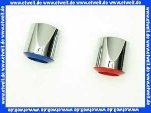 A960255AA Ideal Standard Griff Set mit Index blau/rot verchromt