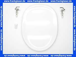 K700701 Ideal Standard WC-Sitz Isabella mit Deckel in Weiß komplett mit Edelstahlscharnieren und Puffern