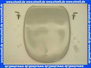 K700806 Ideal Standard WC-Sitz Kimera mit Deckel in Manhattangrau komplett mit Scharnieren und Puffern