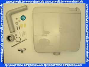 Jomo Aufputz Spülkasten Modell Nixe tiefhängend manhattan mit Spül- Stopptaste im Deckel integriert