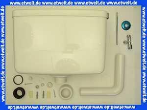 Jomorit Aufputz Spülkasten tiefhängend weiß mit Spül- Stopptaste im Deckel integriert