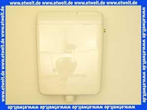 Jomo Aufputz Spülkasten Modell SM6 tiefhängend weiß mit Spül- Stopptaste im Deckel integriert